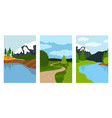 composition landscapes cards vector image vector image