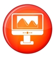 Computer monitor with photo on screen icon vector image vector image