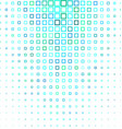 Cyan abstract square pattern background vector image vector image