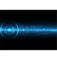 dark blue digital technology with soundwave vector image vector image