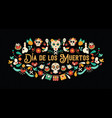 day of the dead spanish language greeting card vector image vector image
