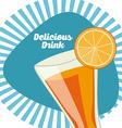 delicious drink vector image vector image