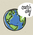 earth day poster on recycled paper texture vector image vector image