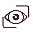 eye emblem icon image vector image vector image