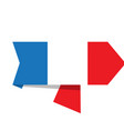 flag of france on a label vector image vector image
