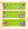 Garden tools horizontal banners vector image vector image