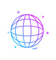 glob map icon design vector image