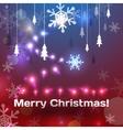 Greeting christmas card vector image vector image