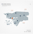 guinea-bissau infographic map vector image vector image