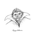 hand drawn of vampire of halloween celebration vector image vector image