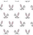 hand drawn rabbits seamless pattern vector image