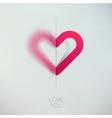 Heart love symbol design template Happy Valentines vector image