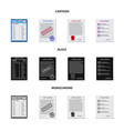 isolated object of form and document logo vector image