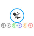 leg and crutch rounded icon vector image vector image