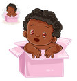 Little baby with black skin vector image