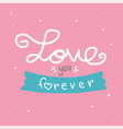love you forever word pink polka dot vector image vector image