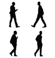 man set silhouette vector image
