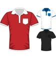 Mens short sleeve t-shirt polo design vector image vector image
