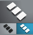 mockup of three gift or bank cards hovering over vector image vector image
