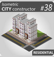 modern isometric house vector image vector image