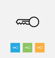 of relatives symbol on key vector image vector image