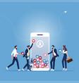 online marketing concept-increase your social vector image