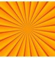 Orange abstract rays circle background vector image vector image