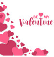 Paper hearts valentines day love art card