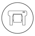 plotter icon black color in circle round vector image vector image