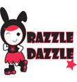Roller Derby - Razzle Dazzle vector image vector image