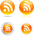 Rss icons vector image vector image