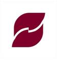 s ff fsf initials geometric letter logo vector image
