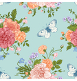 seamless floral pattern with bouquet vector image vector image
