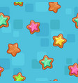 seamless pattern with colorful cartoon stars vector image vector image