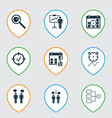 set of 9 administration icons includes special vector image vector image