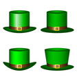 set of green st patrick s day hats hats vector image