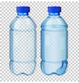 set of transparent water bottle vector image