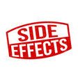 side effects sign or stamp vector image