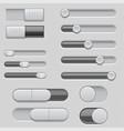 slider bars set of volume level console vector image vector image