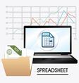 Spreadsheet design vector image vector image