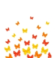 Spring or Summer Background with Paper Butterfly vector image