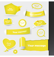 stickers and labels vector image vector image
