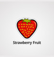 strawberry fruit logo icon element and template vector image vector image
