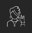 subcultures chalk white icon on black background vector image