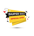 super sale banner special offer template tag vector image vector image