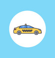taxi icon sign symbol vector image vector image