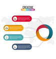 timeline infographics design and marketing icons vector image vector image