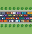 traffic jam top view many cars on highway vector image vector image