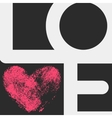 Typographic poster with LOVE inscription vector image vector image
