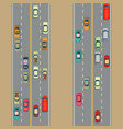 urban cars background traffic and roads vector image vector image